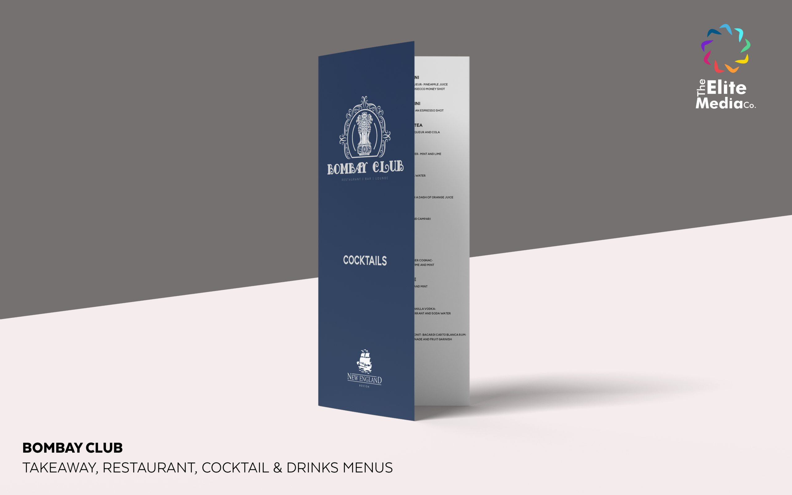 Bombay Club – Cocktail Menu
