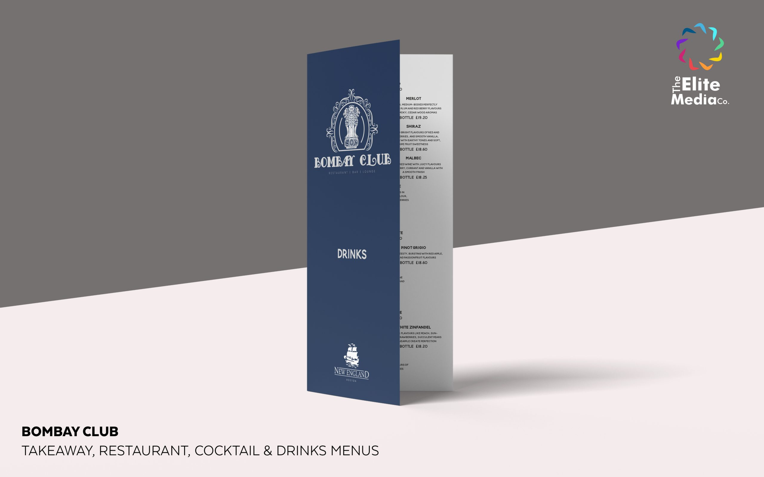 Bombay Club – Drinks Menu