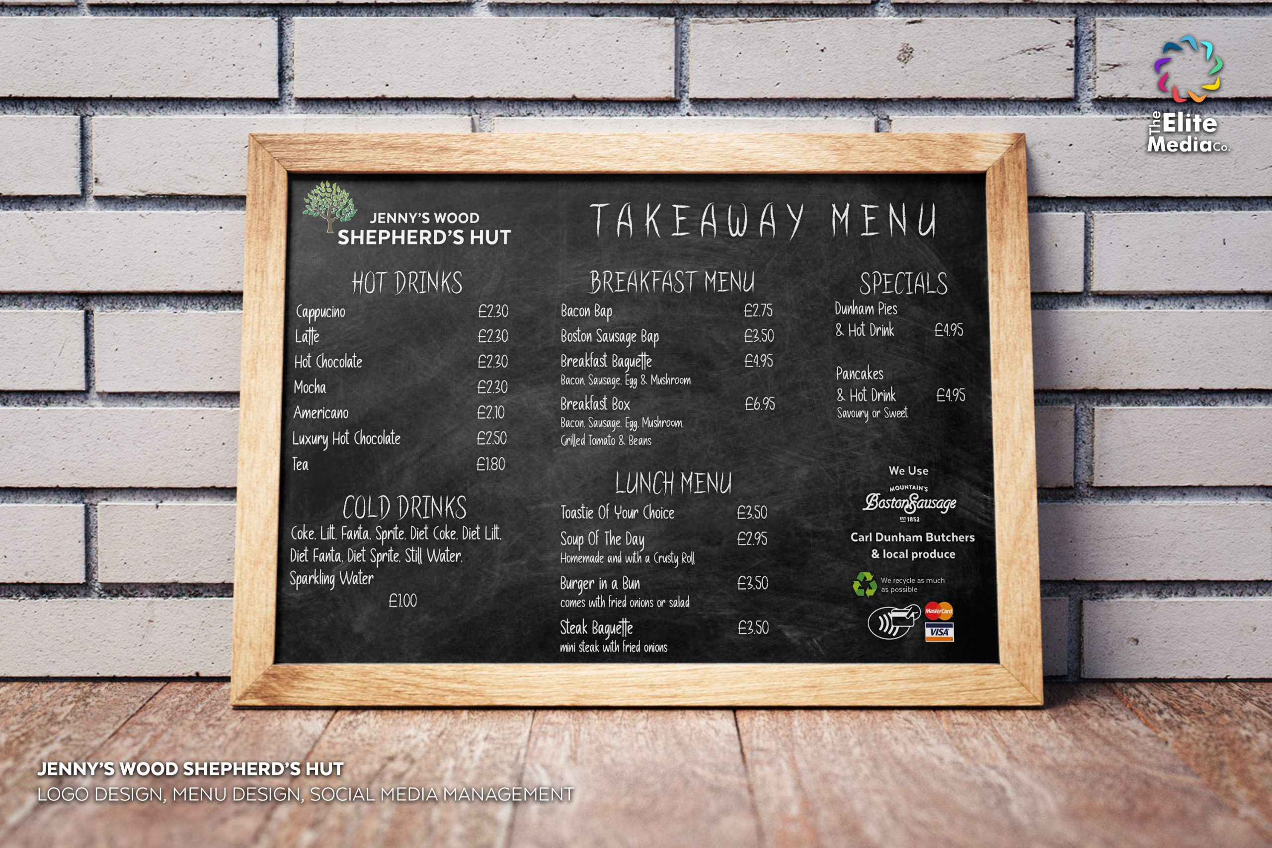 Jenny's Woods Shepherd's Hut – Menu