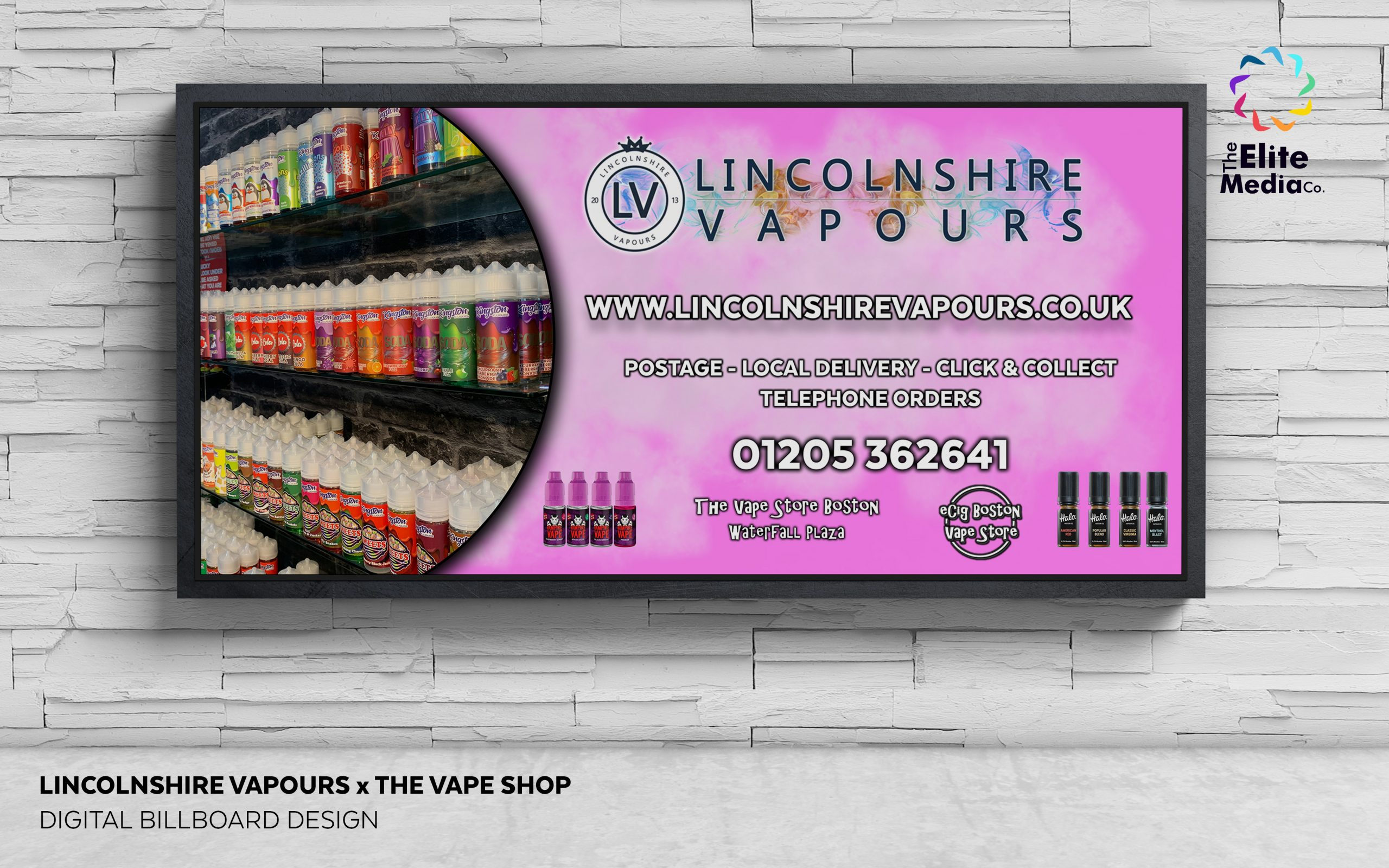 Lincolnshire Vapours x The Vape Store – Billboard