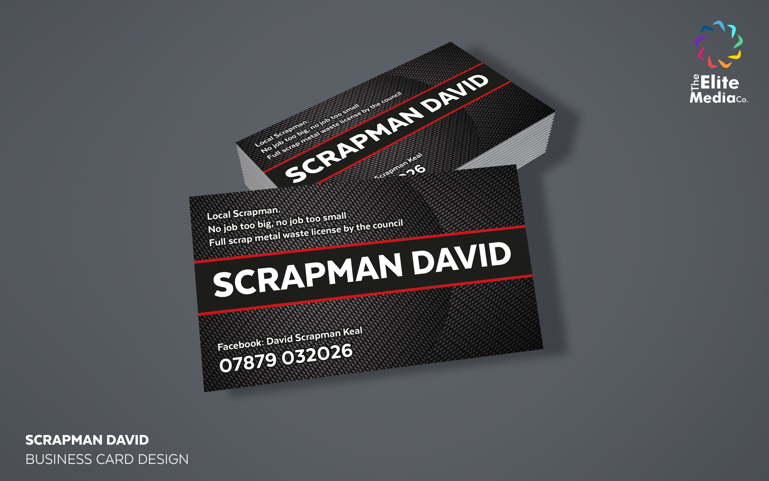 Scrapman David – Business Cards